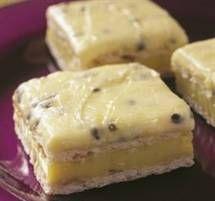 Quick Custard Squares with Passionfruit Icing