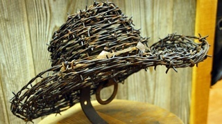 made from barb wire wreaths