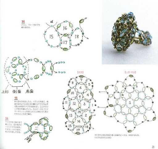 how to make a 9 flower swarovski ring