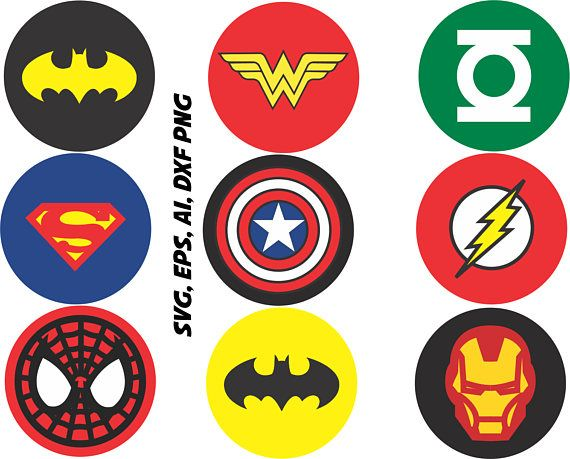Superhero Logos Svg Captain America Ironman Batman Etc In Simbolos De Super Herois Festa De Super Herois Simbolo Pantera Negra
