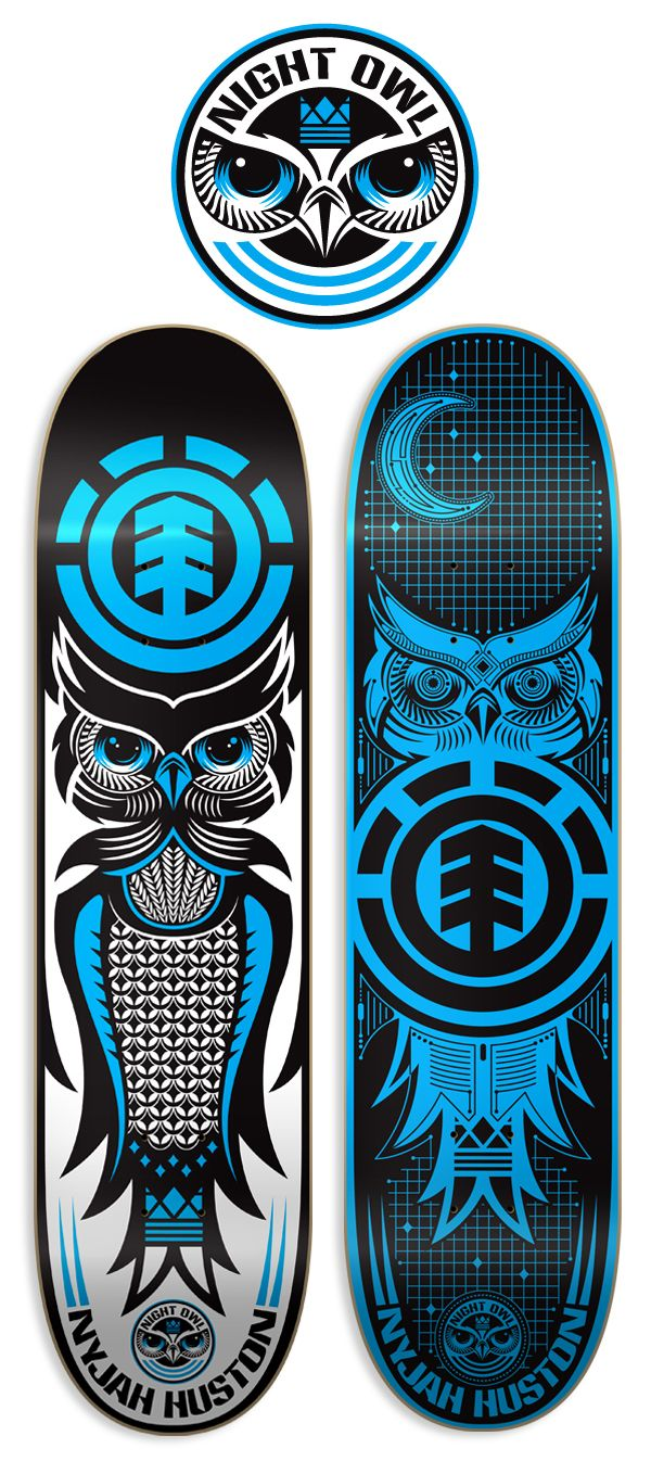 This is a really wild look at an owl because the colors flip on both boards. Very interesting.