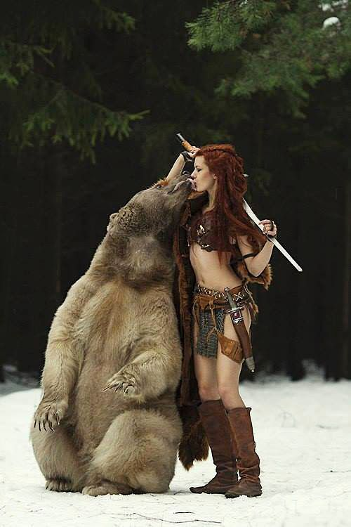 Celtic warrior wild bear friend. not usually my thing, but...