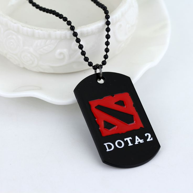 Gaming Series Popular Dota 2 Weapon Turret Alliance Logo Badge Alloy Pendant Necklace Around Jewelry Pendants