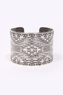 Geometric Tribal Cuff: Style, Bracelets, Tribal Cuff, Cuffs, Geometric Tribal, Geometric Cuff