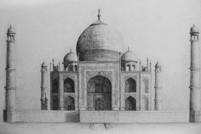 taj mahal drawing - Google Search | drawings | Pinterest ...