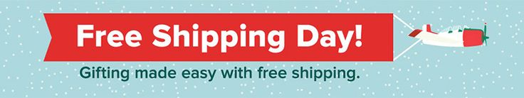 Today is National Free Shipping Day (Friday December 16)  Good evening everyone.  Today is National Free Shipping Day (yes, it is a real thing – Wikipedia) and hundreds of merchants will be offering free shipping (usually with no minimum purchase amount) today only.  If you have any last minute holiday shopping left to do, today is a great day to get it done.  Ebates has a dedicated Free Shipping Day page with free shipping details from some of their top merchants. To