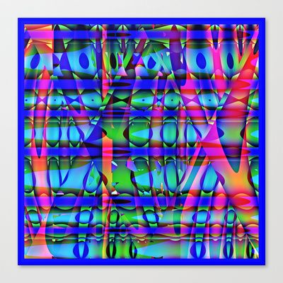 Qbist serie digit collage # 29 Stretched Canvas by Mittelbach Marenco Florencia