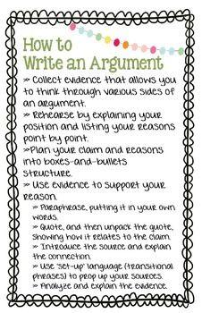 Lucy Calkins - Argument Essay Grade 5, Unit 4, Bend I Posters