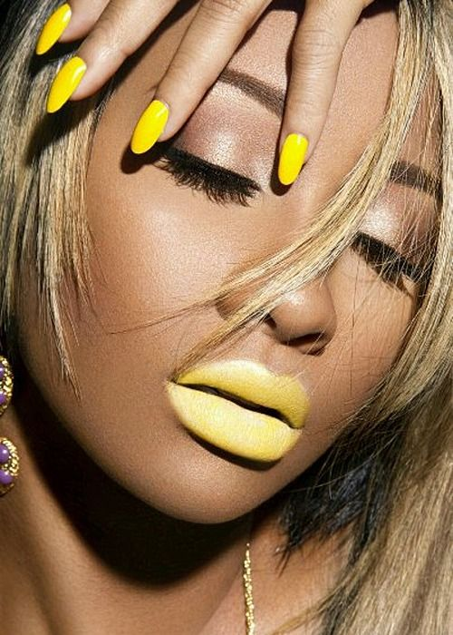 yellow lip color video set wearing this bright yellow lipstick i think she looks hot. Black Bedroom Furniture Sets. Home Design Ideas