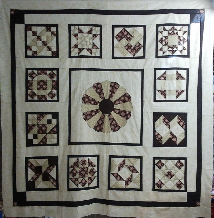 """This Quilt is called """"Bakers Dozen"""" I designed and created it...I then entered in the local Show and won First Prize :0)"""