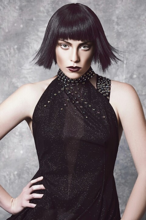 X - FILES  The #bob is a #chanel inspired look on a grungier level.  A disconnected textured look for a short textured fringe is a big look for the upcoming seasons.  Cut without #guidelines this look has a great texture while breaking all the rules.