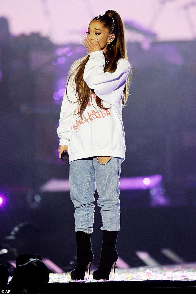 Also on the bill: Ariana was particularly overcome with emotion during her set