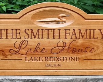 Personalized Lake House Sign-Lake House Decor wood by TaylorSigns