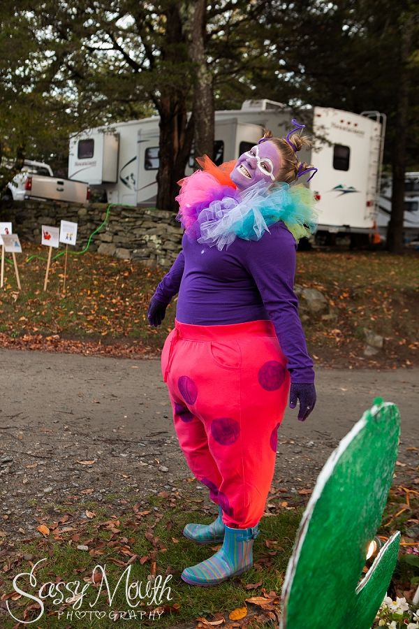Jolly Costume Candy Land Halloween Theme Strawberry Park Campground CT Photographer Sassy