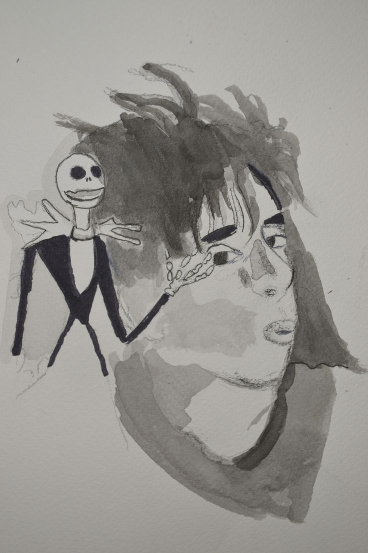 ilustracion de Tim Burton  tecnica Mixta sobre papel acuarela   #timburton #ilustracion #ink