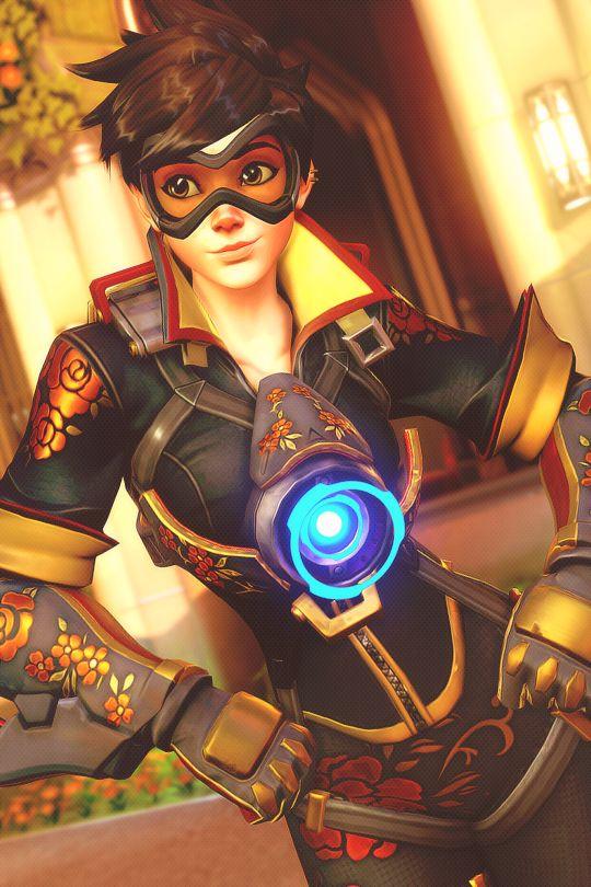 Overwatch Hero Poster - Tracer #overwatch #gaming