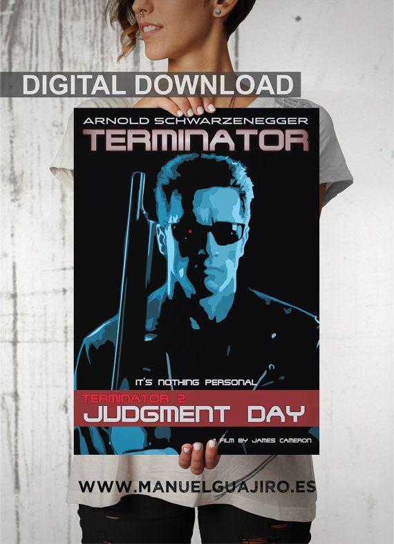 Terminator 2 poster alternativo Arnold Schwarzenegger James