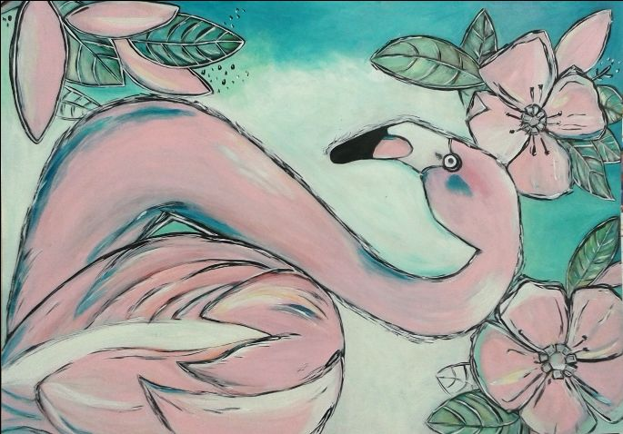 Flamingo  - skúsila som :)