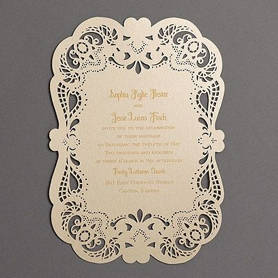 Can't get enough lace? Then this laser-cut wedding ...