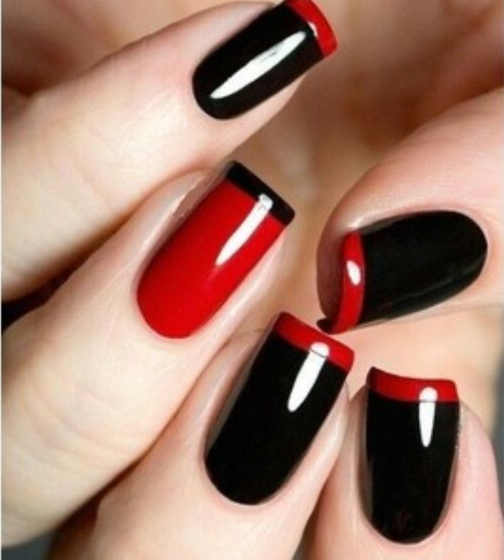 Black & Red tips