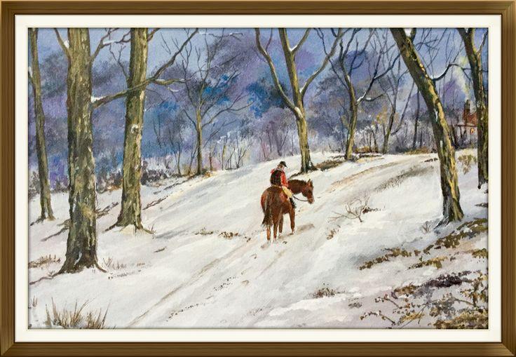 """""""Homeward Bound"""". acrylic on canvas board"""