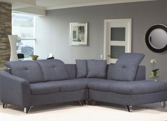 Modern Style Blue-Grey Sectional Sofa set