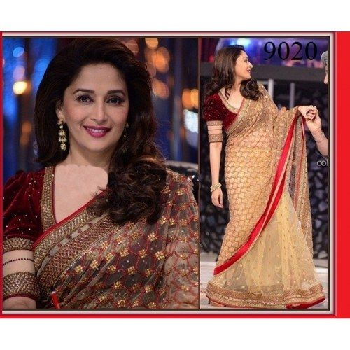 Indian Bollywood Designer Replica Madhri dixit Gorgeous Party wear saree sari