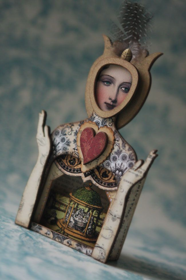 Queen of Hearts by Gale Blair, PaperWhimsy using our exclusive Automaton Reliquary... Nifty!