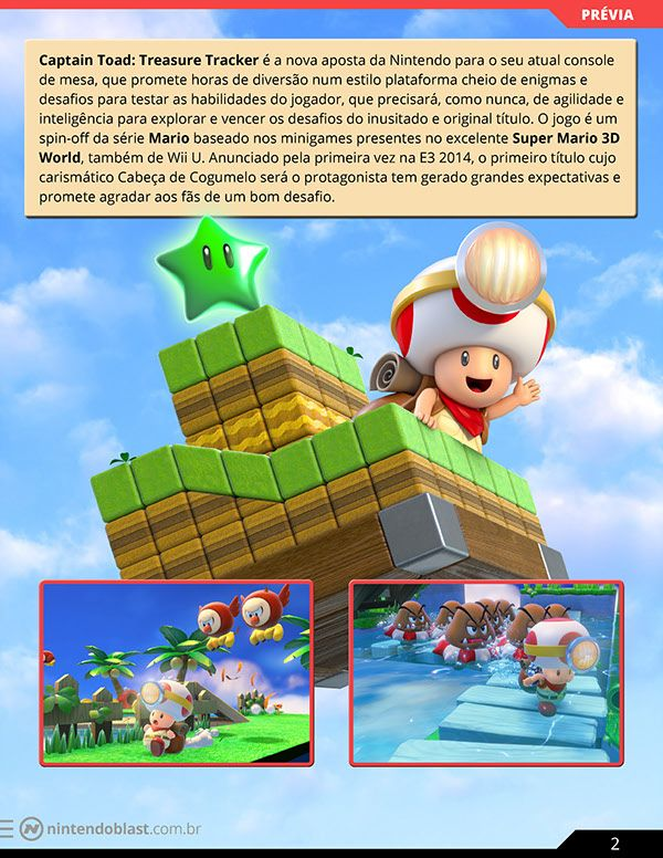 Article Captain Toad Treasure Tracker Wii U On Behance Game