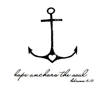 "Small anchor with the heart to represent faith, hope, & love. I also love the meaning of an anchor meaning determination and the saying it has taken on as ""I will not sink"""