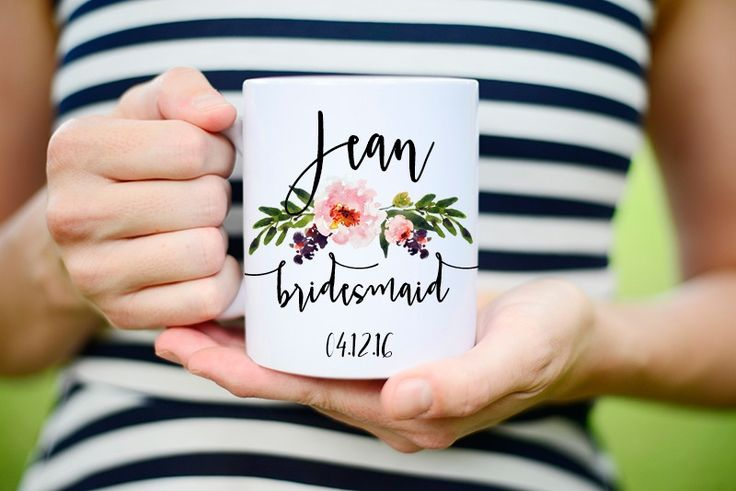 Bridesmaid Mugs See more here: https://www.etsy.com/listing/262376252/bridesmaids-mugs-bridesmaids-cups?ref=shop_home_feat_4