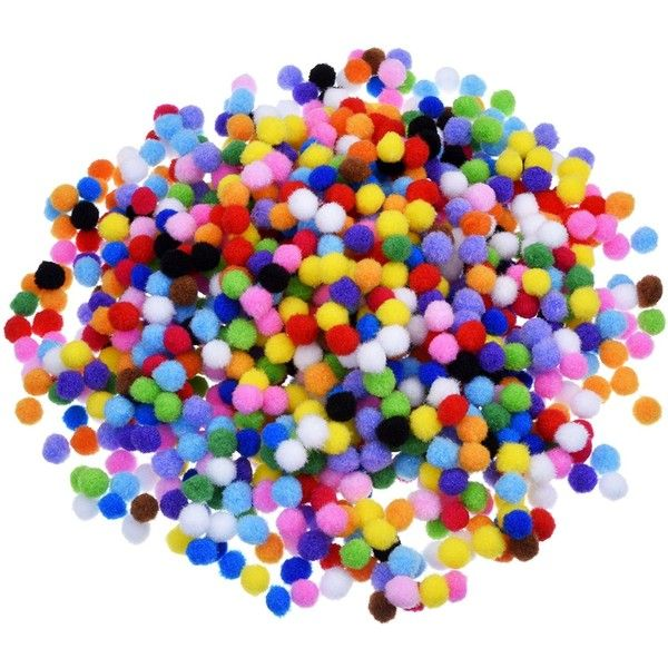 Outus Pompoms for Craft Making and Hobby Supplies 0.4 Inch, 1000... (900 RSD) ❤ liked on Polyvore featuring home and home improvement
