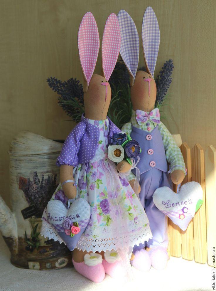 Купить Влюблённая парочка - комбинированный, тильда, тильда кукла, тильда заяц…
