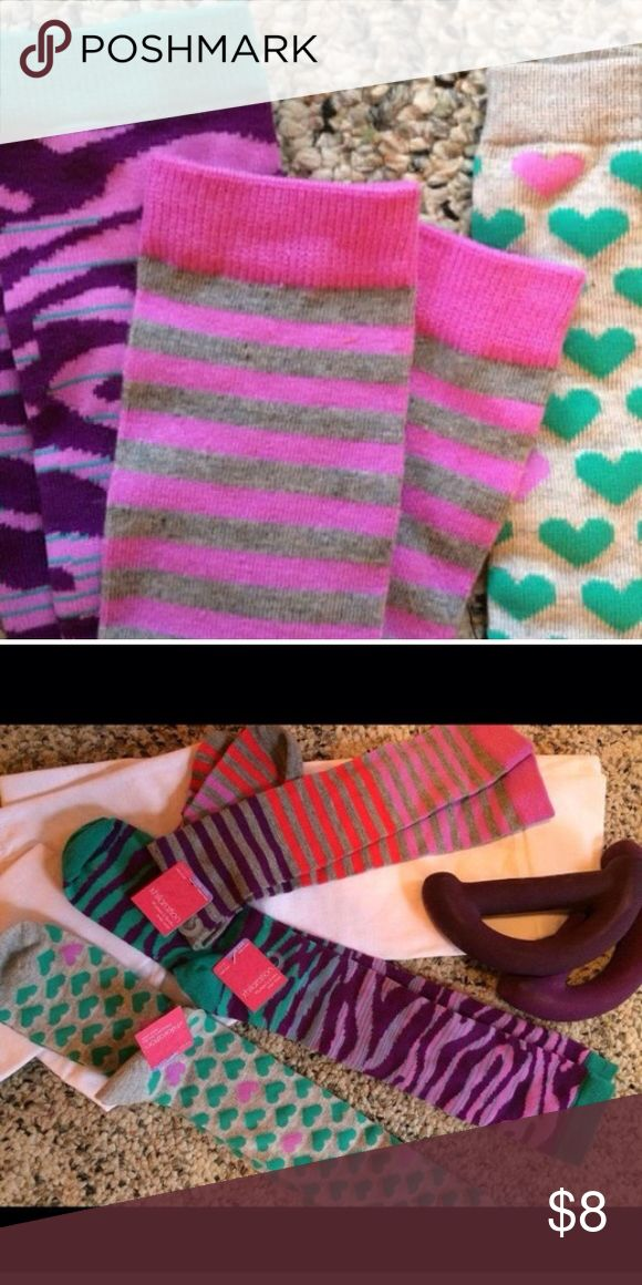 3 pairs of knee high stockings Fun and colorful stockings that will keep your tootsies warm and stylish at the same time! Other