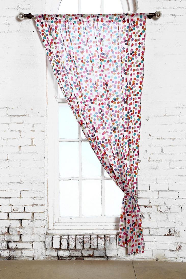 Plum & Bow Confetti Curtain #urbanoutfitters