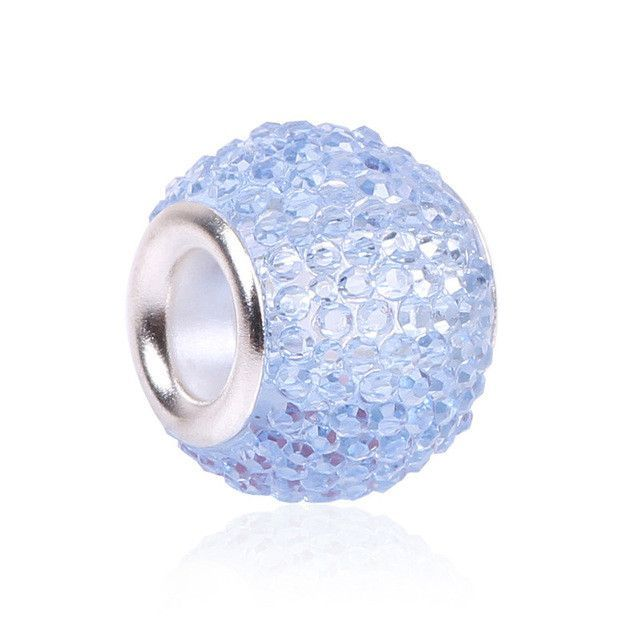 Retail Fashion White Glass Beads Pandora Charms Bracelets & Necklaces For DIY Women jewerly