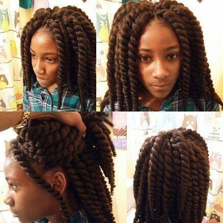 Top 100 croshay braids photos just finished baby girls hair... #crochetbraids #croshaybraids #teamnatural  #jumbotwists