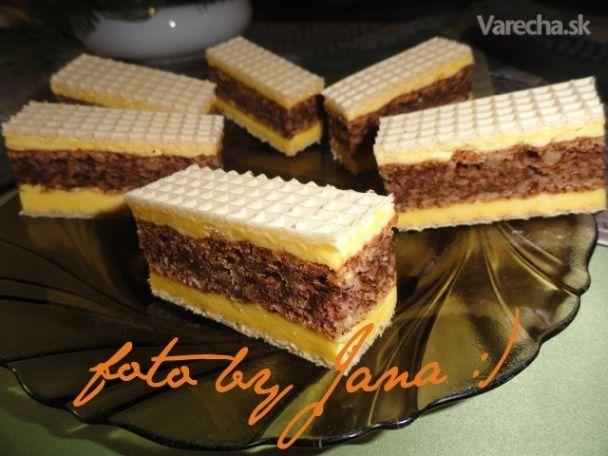 Žĺtkovo - čokoládové rezy v oblátke (fotorecept)