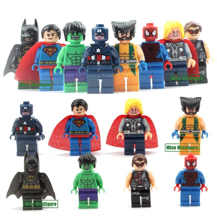 8pcs  Marvel DC Super Heroes  Action Toys Batman Ironman Building Block Toys Xmas Gifts