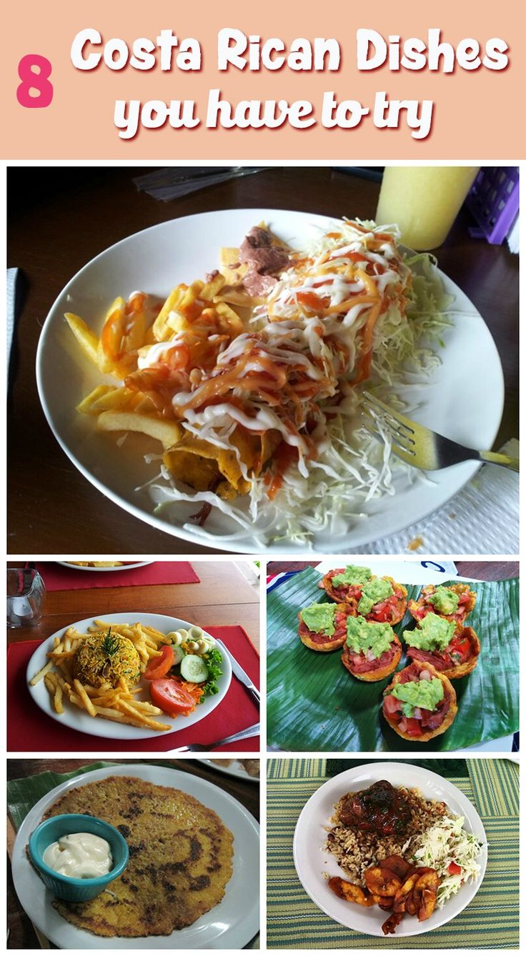 Costa Rican food isn't just rice and beans - see what other kind of food they eat including 8 dishes you have to try