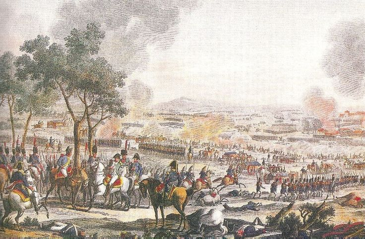 The ending of the Battle of Wagram, July 6, 1809