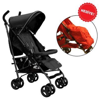 Brion Mira Baston Puset Bebek Arabası - Siyah
