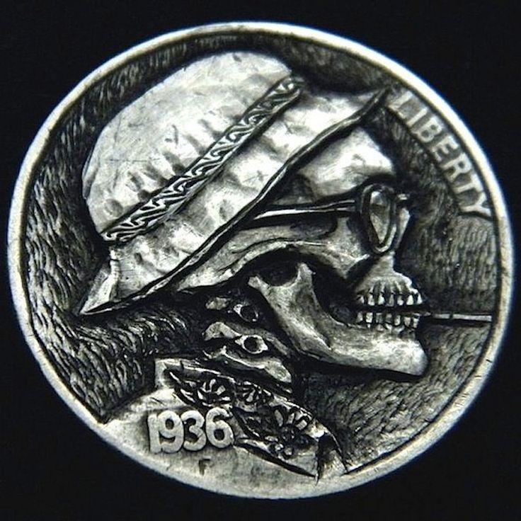 ROBERT MORRIS HOBO NICKEL - HUNTER S. THOMPSON - 1936 BUFFALO PROFILE