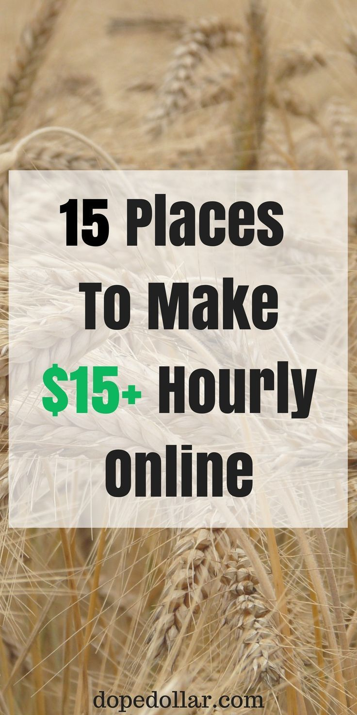 Here are 15 online websites you can use to make an extra $15 per hour every single day! Check them out.