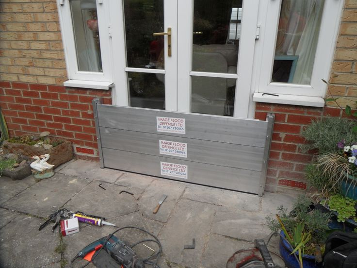A flood barrier installation to a set of French doors. Flood barriers dont just have to go on single doors or French doors but can be installed to protect garage doors, gaps in walls etc. All of our flood barriers are made to measure aluminium barriers so can be made to protect almost any area #floodaware www.imageflooddefence.co.uk Installers of flood defence products throughout the uk