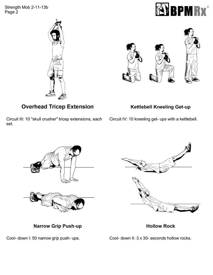 circuit training 4 x 4 workout design bpm rx