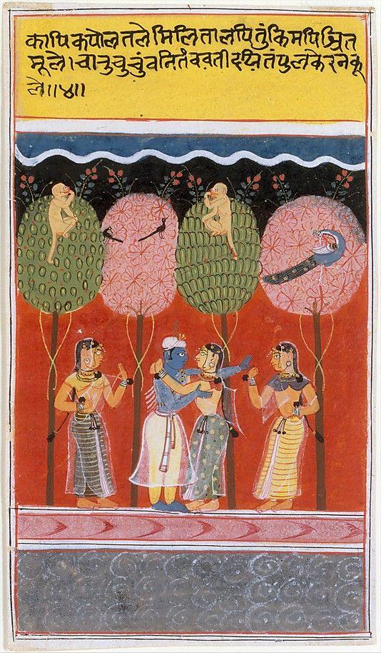 """Krishna revels with the Gopis"", page from a Dispersed Gita Govinda (Loves of Krishna), ca. 1630–40. Malwa, Madhya Pradesh, Malwa, India.. The Met"