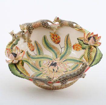 Ardmore Ceramics Leopard Bowl