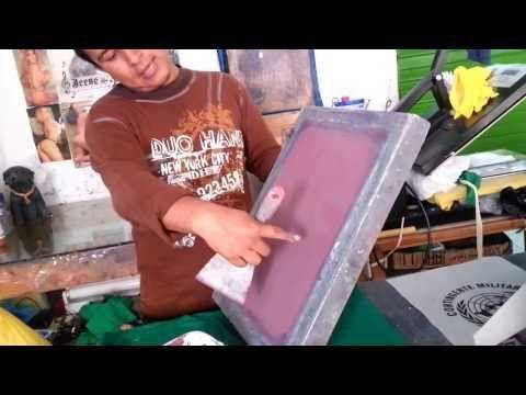 TENSAR UN SHABLON PARA SERIGRAFIA PASO A PASO #PARTE 1 - YouTube