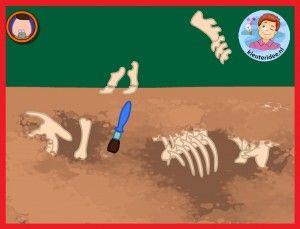 Opgravingen voor kleuters op digibord of computer, kleuteridee